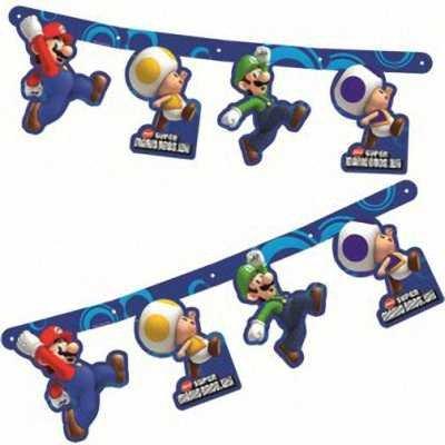 Super Mario Bros. Wii Party Room (Super Mario Birthday Party Ideas)