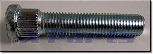 Zigrinato bullone borchie Bulloni M10/x 1,25/zigrinato 12,2/mm lunghezza totale 36/mm