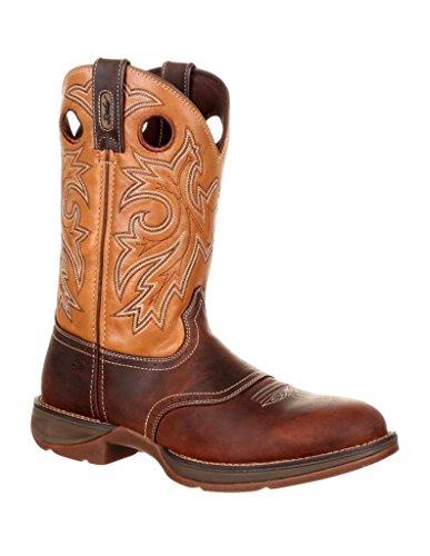 Ribelle Di Durango Uomo Marrone E Marrone Sella Western Boot Ddb0132 11,5 M