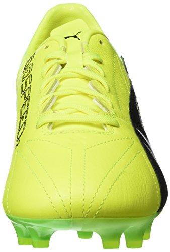 Puma Evospeed 17.2 Lth Fg, Botas de Fútbol para Hombre Amarillo (Safety Yellow-puma Black-green Gecko 01)