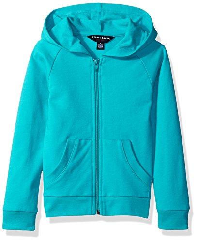 (French Toast Girls' Big Long Sleeve Active Jacket, Drift Turquoise Heather, 14/16)