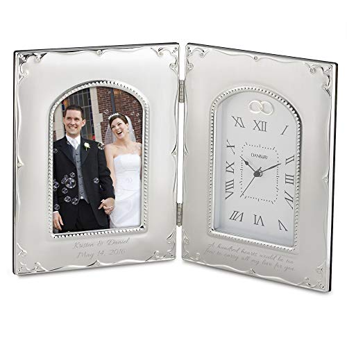 Things Remembered Personalized Forever Yours Frame Clock with Engraving Included ()