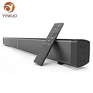 Sound Bar 31.4-inch 40 Watt Soundbar Instant Home Theater Streaming TV and Music Speaker (Remote Control,Wall Mountable,Wireless Bluetooth,AUX,Coaxial,Optical Modes) (31.4-inch 4 * 10 Watt)
