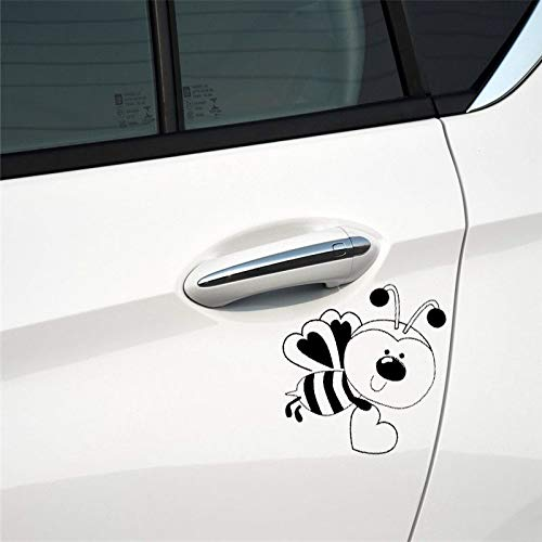 15.2CM16.7CM Car Sticker Bumble Bee Valentine Heart Holiday Cling Vinyl Decal Vinyl Decal for Cars, Trucks, Windows, Laptops ()