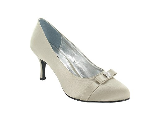 Ladies Lexus Closed Toe Court Shoe with Bow and Diamante Trim. mmFbiOx