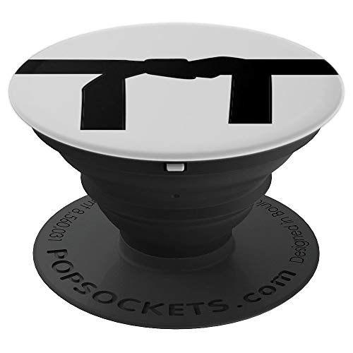 - Fake Black Belt Graphic Image Kickboxing Blackbelt Gift Idea - PopSockets Grip and Stand for Phones and Tablets