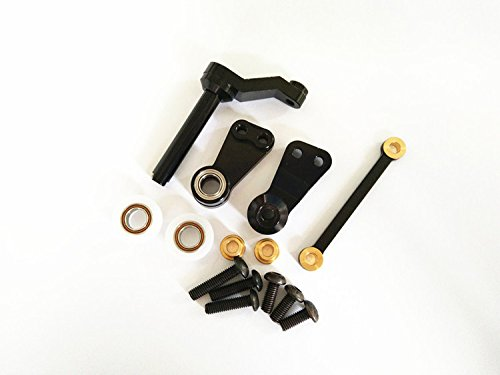 Aluminum Bearing Steering Bellcrank Assembly Black For RC 1:10 CAR 1/10 CC01 CC-01 CrazyRacer
