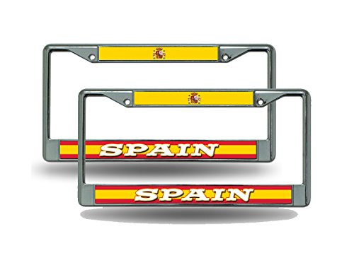 Rico Spain World Cup Soccer (Football) Chrome Metal (2) License Plate Frame Set by Rico