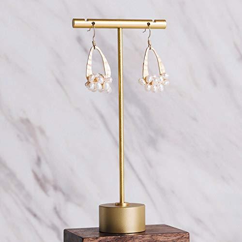 Exhibidores de joyeria en metal Dorados altura 13cm (2un)