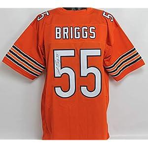 Lance Briggs Autographed Chicago Bears Orange Custom Jersey w/JSA COA