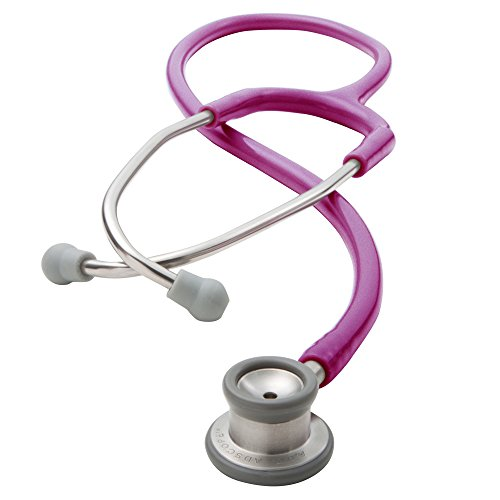 Infant Stethoscope - ADC Adscope 605, Infant Clinician Stethoscope, 30.5 inch Length, Metallic Raspberry