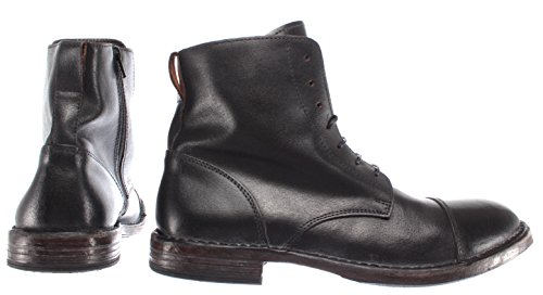 Pelle Italy Schuhe Herren 66702 Leder R3 Stiefel Made Vintage Boot Schwarz MOMA PYpxawRqca