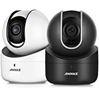 ANNKE (2) 720p HD Dome Camera Baby Monitor, 1.0MP Pan&Tilt Wireless IP Security Surveillance System with Night Vision, 2-way Audio