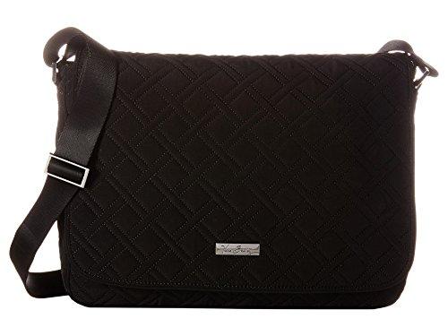 Vera Bradley Women's Laptop Messenger Classic Black Messenger Bag by Vera Bradley