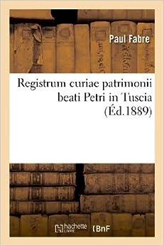 Book Registrum Curiae Patrimonii Beati Petri in Tuscia (Religion)