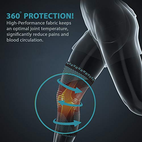 PowerLix Compression Knee Sleeve Best Knee Brace for Meniscus Tear,Arthritis,Quick Recovery etc Knee Support For Running,CrossFit,Basketball and other Sports Single Wrap Small by POWERLIX (Image #2)