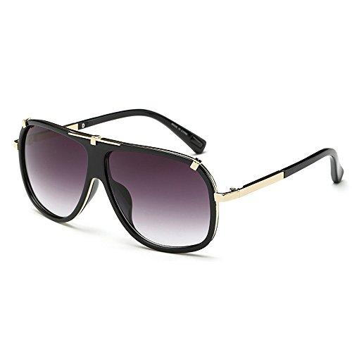 Oversize Aviator Eye Gris lunettes Vision Boss Big hommes homme de pour Lunettes Wear soleil pour de noir avec Lens vue étui Day conduite vrvCqw0n