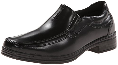 Deer Stags Wise Boys Twin Gore Slip-On (Little Kid/Big Kid), Black, 5 M US Big Kid (Size 5 Big Boys Shoes)