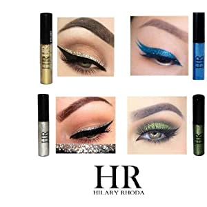 ClubComfort® Beauty HR Glitter Liquid Eyeliner Gold, Blue, Green Pack of 4,