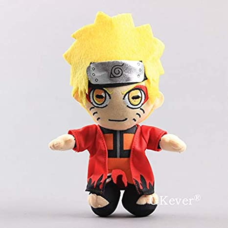 tianluo Juguete de Peluche 22 Cm Anime Naruto Uzumaki Naruto Muñeca De Juguete De Felpa para Niños Regalo Muñecas De Peluche Suave Figura De Gran Tamaño