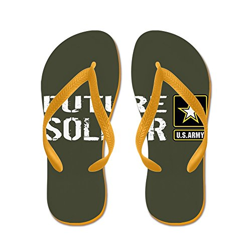 CafePress U.S. Army: Future Soldier (Military Gre - Flip Flops, Funny Thong Sandals, Beach Sandals Orange