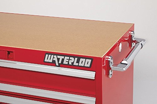 Waterloo PCA-36821RD Professional HD Series 8-Drawer Rolling Tool Cabinet, Red Finish, 36'' W by Waterloo (Image #5)