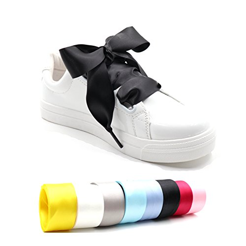 Black Flat Satin Kids Shoes - 5