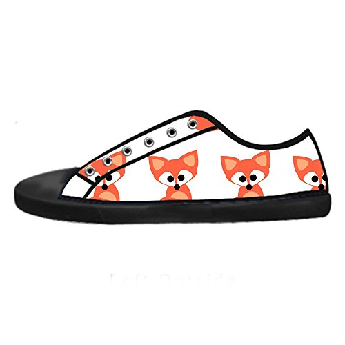 Dalliy Custom Fox Mens Canvas Shoes Schuhe Lace-Up High-Top Sneakers Segeltuchschuhe Leinwand-Schuh-Turnschuhe A