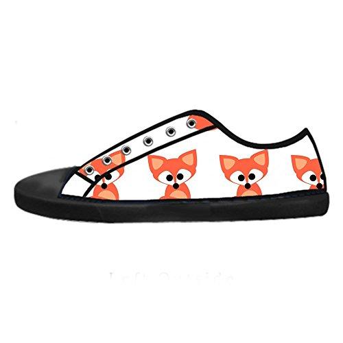 di in di Le Ginnastica da Alto Men's Fox Shoes Scarpe Scarpe sopra delle Scarpe Tela Scarpe Canvas Lacci I Custom 48ZUAPx