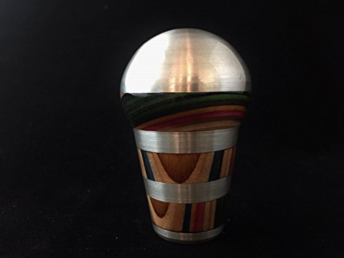 Shift Knob made from Billet and Recycled Skateboard Decks by Old Soul Home Decor
