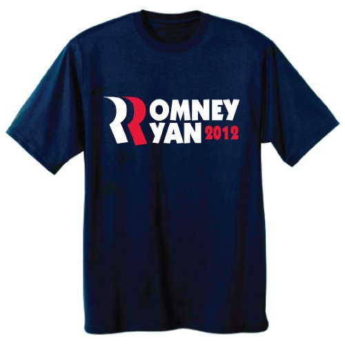 (VICTORYSTORE.COM Romney Ryan 2012 Navy T-Shirt - Size)