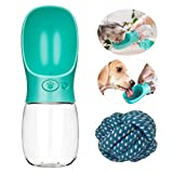 Portable Pet Dog Water Bottle - Portable Pet Dog Water Bottle - Portable Dog Water Dispenser, Fashion Pet Water Bottle Travel Dog Cat Water Dispenser with Drinking Feeder, Leak Proof, 350ml/12oz