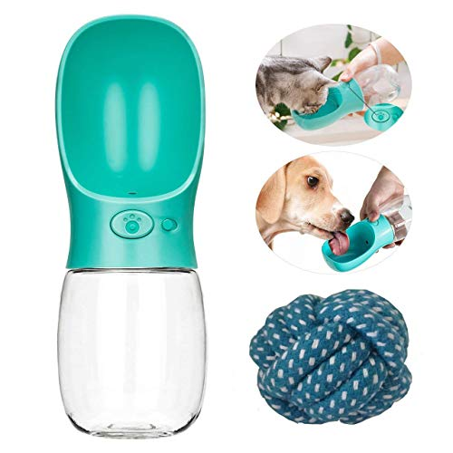 This is a portable super convenient pet water bottle