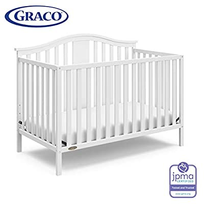 Graco Solano 4-in-1 Convertible Crib, White, Easily ...