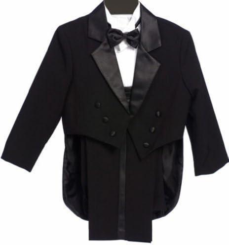 Classykidzshop Formal Negro Tuxedo con la cola Cummerbund ...