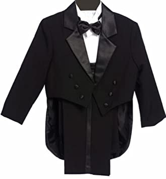 Classykidzshop Formal Negro Tuxedo con la cola Cummerbund Bowtie ...