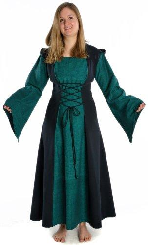 Lacci Medievale E Da Hemad Cappuccio Anteriori Cotone Posteriori Vestito Donna TnqwxxvXO1