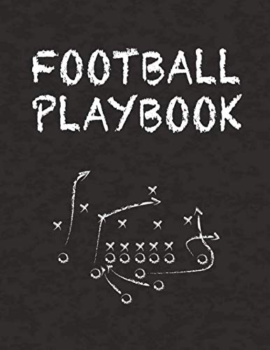 "Football Playbook: 8.5"" x 11"" Notebook for Drawing Up Football Plays and Creating a Playbook and Other Notes"