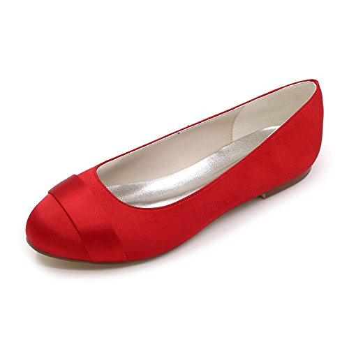 L@YC Women Wedding Shoes Comfortable Ballet Dancer Wedding Party & Evening / Flat Shoes / Multi-Color Large Yards Red