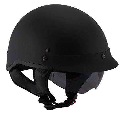 Milwaukee Performance Helmets Unisex-Adult Half Momentum Helmet (Matte Black, XX-Large)