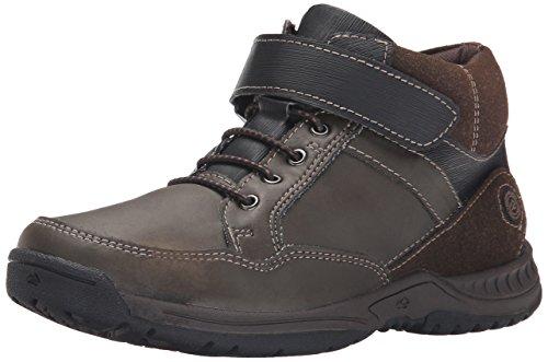 Nunn Bush Heritage JR Boot Moc Toe Velcro (Little Kid/Big Kid), Brown, 5 M US Big Kid