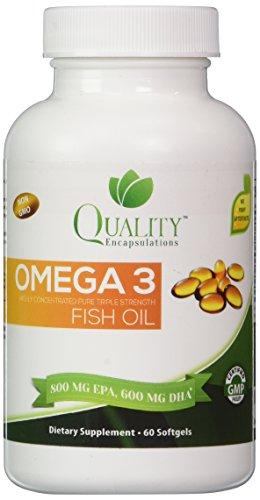 Omega 3 Fish Oil **%100 Pure** Burpless ** Triple Strength, Natural Lamon flavord, Non-GMO, 60 gelcaps