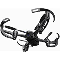 Owill Racing Drone 2M HD Camera Auto Return 2.4Ghz 4CH 6-Axis RC Quadcopter Aerial Photography Helicopter (Black)