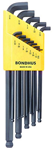 Bondhus-16537-Set-of-13-Balldriver-Stubby-L-wrenches-sizes-050-38-Inch
