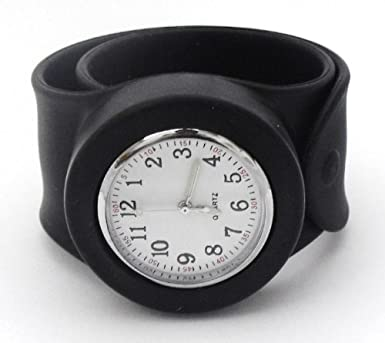 mens large black snap slap on watch water resistant fits any mens large black snap slap on watch water resistant fits any size wrist