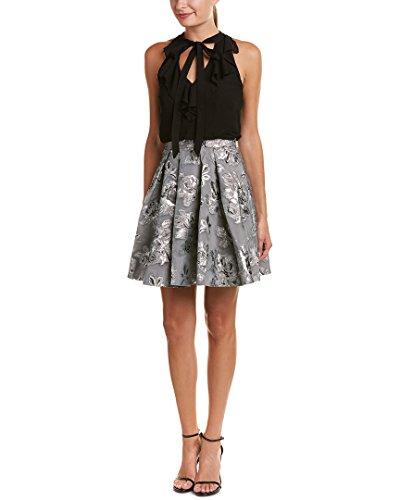 Karen Millen Womens Double Layer A-Line Dress, - Shop Millen Karen