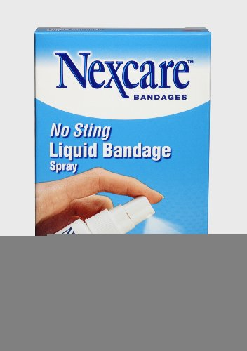 Nexcare No Sting Liquid Bandage Spray, 0.61-Ounce (Pack of 24) by Nexcare