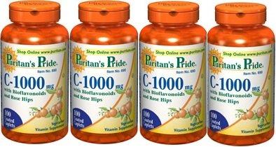 Puritains fierté Vitamine C-1000 mg paquet de 4