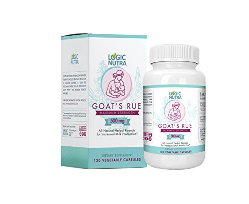 Goats Rue Organic Herb Lactation Aid Support Supplement for Breastfeeding Mothers - 120 Vegetarian Powder Capsules 500 mg per Vegetarian Capsule Compare to Others in The Category ()