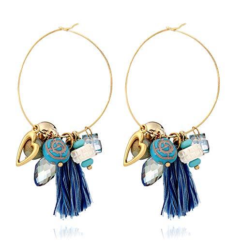 - MZGEHG Earrings Bohemian Ethnic Style Handmade Tassel Earrings Clustered Earrings Earrings Holiday